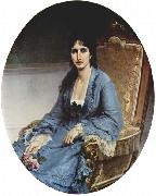 Francesco Hayez Portrait of Antonietta Negroni Prati Morosini, Oval oil painting reproduction