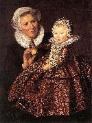 Frans Hals Catharina Hooft with her Nurse WGA oil painting on canvas
