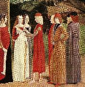 French school the betrothal oil painting
