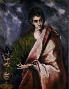 GRECO, El St John the Evangelist oil painting reproduction