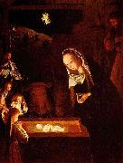 Geertgen depicted the Child Jesus as a light source on his painting The Nativity at Night