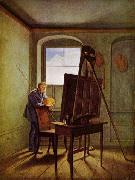 Caspar David Friedrich in his Studio