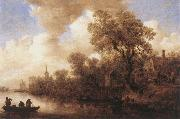 Jan van Goyen River Scene oil painting reproduction