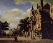 Jan van der Heyden Gothic churches oil painting on canvas