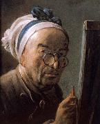 Chardin bust self portrait