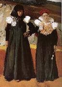 Two women wearing traditional costumes Aragon