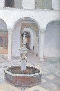 Joaquin Sorolla Atrium fountain oil painting reproduction