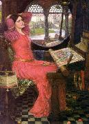 John William Waterhouse I am half sick of shadows, oil painting reproduction