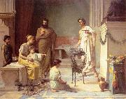 A Sick Child brought into the Temple of Aesculapius