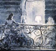 Louis Lcart Balcony oil painting reproduction