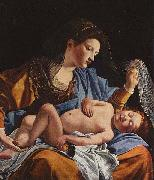 Madonna with Child by Orazio Gentileschi.