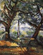 Paul Cezanne tree oil painting reproduction