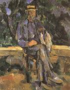 Paul Cezanne mannen vergadering oil painting reproduction
