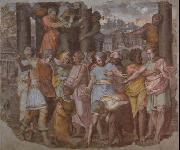 Tarquinius Superbus Founds the Temple of Jove on the Capitol, from Palazzo Baldassini, now in the Uffizi, Florence