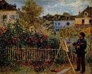 Claude Monet Painting in His Garden at Argenteuil,