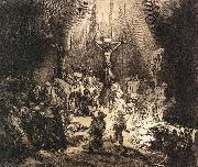 REMBRANDT Harmenszoon van Rijn The Three Crosses oil painting reproduction