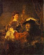 Rembrandt and Saskia pose as The Prodigal Son in the Tavern