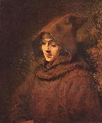 Rembrandt son Titus, as a monk,