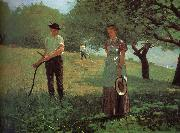 Winslow Homer Waiting for reply oil painting reproduction