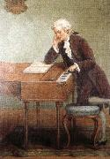 a romantic artist s impression of mozart composing