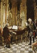 a romanticized artist s impression of bach s visit to frederick the great at the palace of sans souci in potsdam