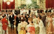ignaz moscheles the dance music of the strauss family was the staple fare for such occasions oil painting