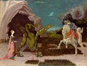 A gothicizing tendency of Uccello art is nowhere more apparent than in Saint George and the Dragon