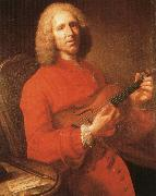 jean philippe rameau with his violin, a famous portrait by joseph aved