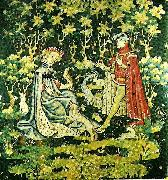 offering the heart, tapestry