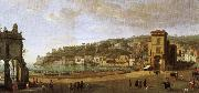 a painting showing the of the shoreline at naples