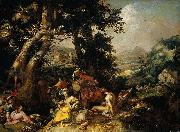 Abraham Bloemaert Landscape with the Ministry of John the Baptist. oil painting