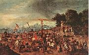 BRUEGHEL, Pieter the Younger Crucifixion oil painting reproduction