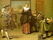 CODDE, Pieter The Dancing Lesson oil painting