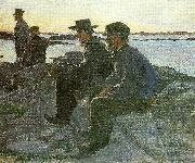 Carl Wilhelmson pa berget oil painting reproduction