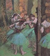 dancers pink and green