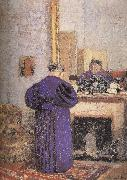 In front of the fireplace vuillard mother