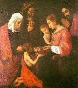 Francisco de Zurbaran the holy family, st. joaquim and st. oil painting reproduction