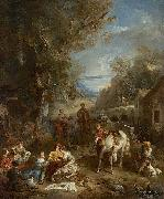 Francois Lemoyne Picnic During the Hunt oil painting