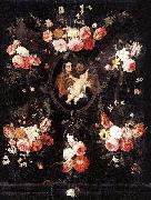 Jan Van Kessel Holy Family oil painting reproduction