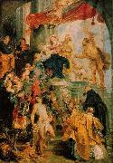 RUBENS, Pieter Pauwel Virgin and Child Enthroned with Saints oil painting reproduction