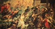RUBENS, Pieter Pauwel The Apotheosis of Henry IV and the Proclamation of the Regency of Marie de Medicis on May oil painting reproduction