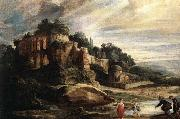 RUBENS, Pieter Pauwel Landscape with the Ruins of Mount Palatine in Rome oil painting reproduction