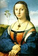 Raphael portrait of maddalena oil painting reproduction