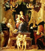 far right madonna del baldacchino