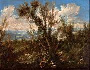 Alessandro Magnasco Landscape with Shepherds oil painting
