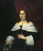 Bartholomeus van der Helst Lady in Black oil painting reproduction