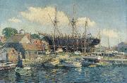 Clifford Warren Ashley A Whaleship on the Marine Railway at Fairhaven oil painting