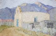 Cordelia Creigh Wilson Adobe Church oil painting reproduction
