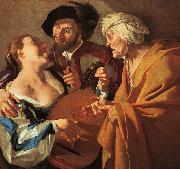 Dirck van Baburen Procuress oil painting