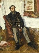 Edgar Degas Portrait of a Man oil painting reproduction